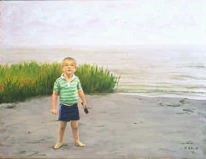 Jonathan on the Tideflats--22x28 1991