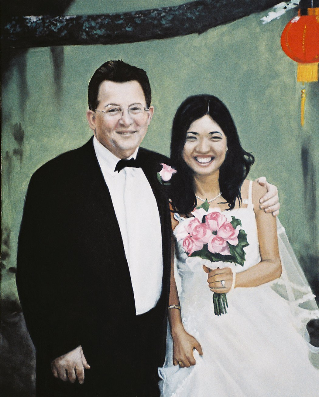 Jeff and Joyce Kalin wedding portrait--2010