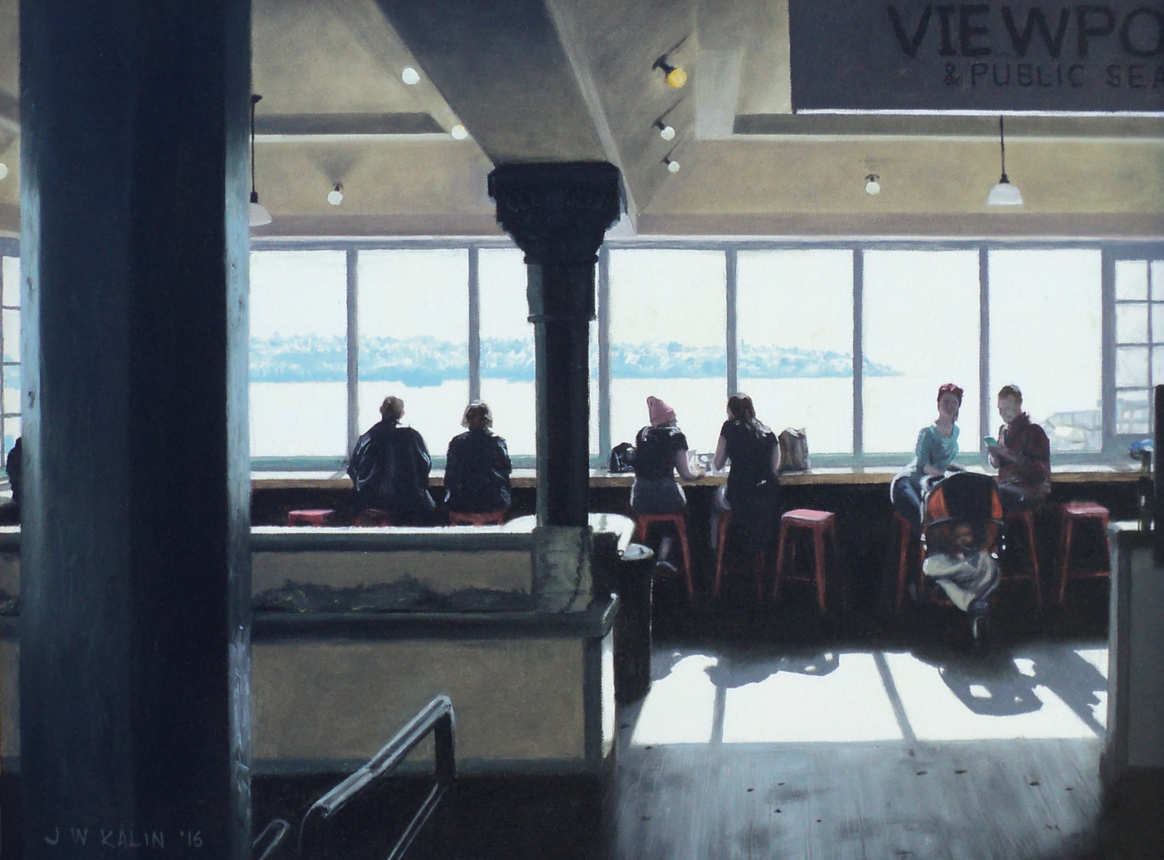 Pike Place Viewpoint 18x24--2016